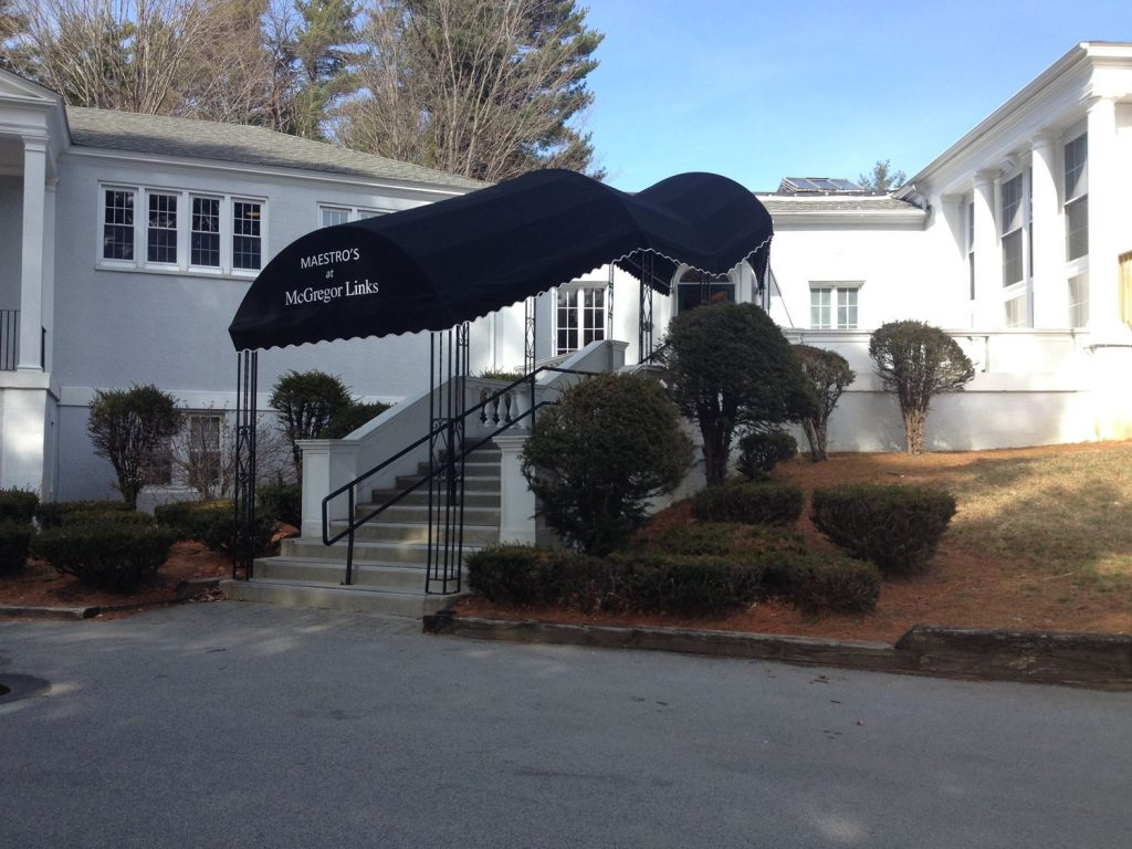 Custom Walkway Canopy at McGregor, Wilton, NY