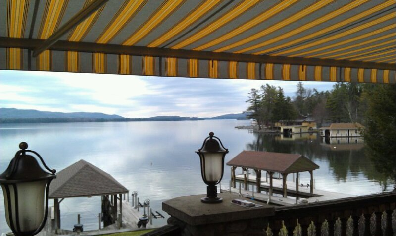 Retractable Awning on Lake George