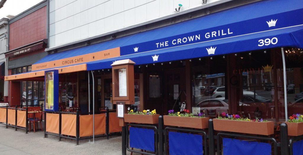 Custom Shades at Circus Cafe & Crown Grill, Saratoga Springs, NY